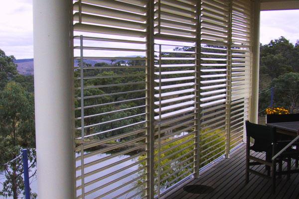outdoor Aluminium shutters gold coast